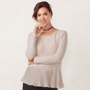Lauren Conrad Dusty Rose Layered Sweater Size M